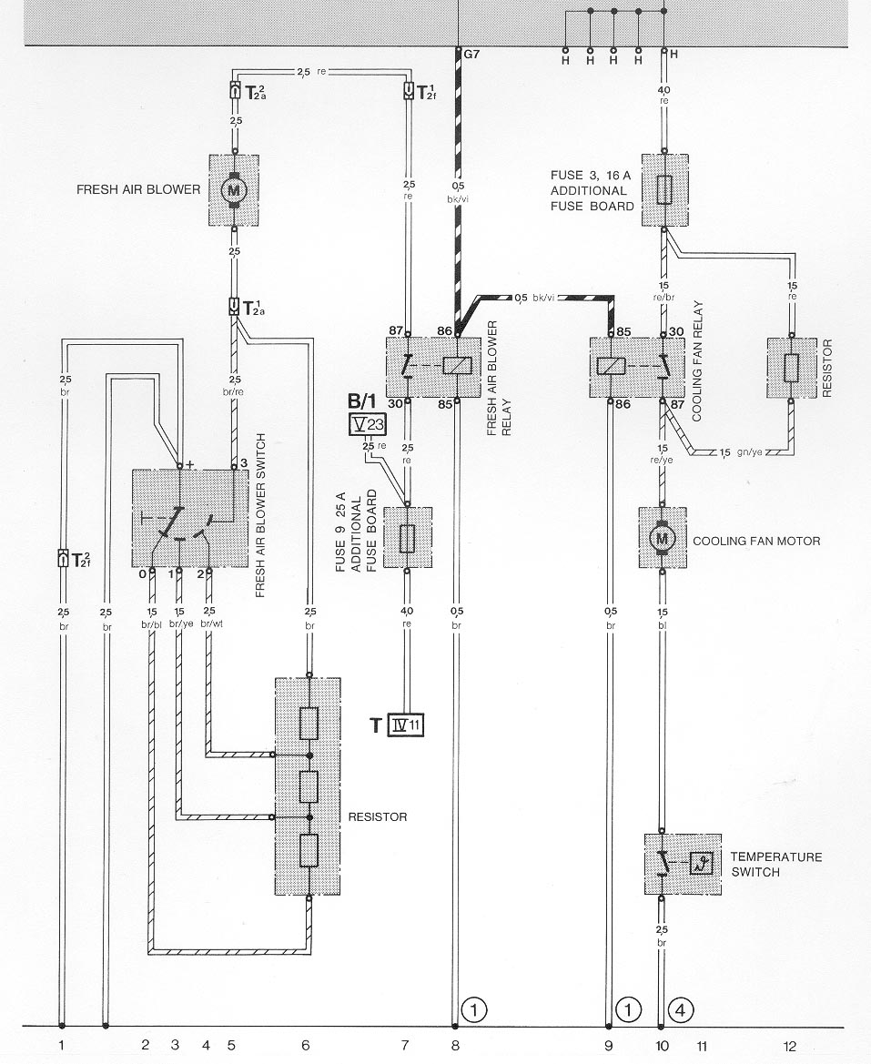 Cool 01 on heater circuit diagram