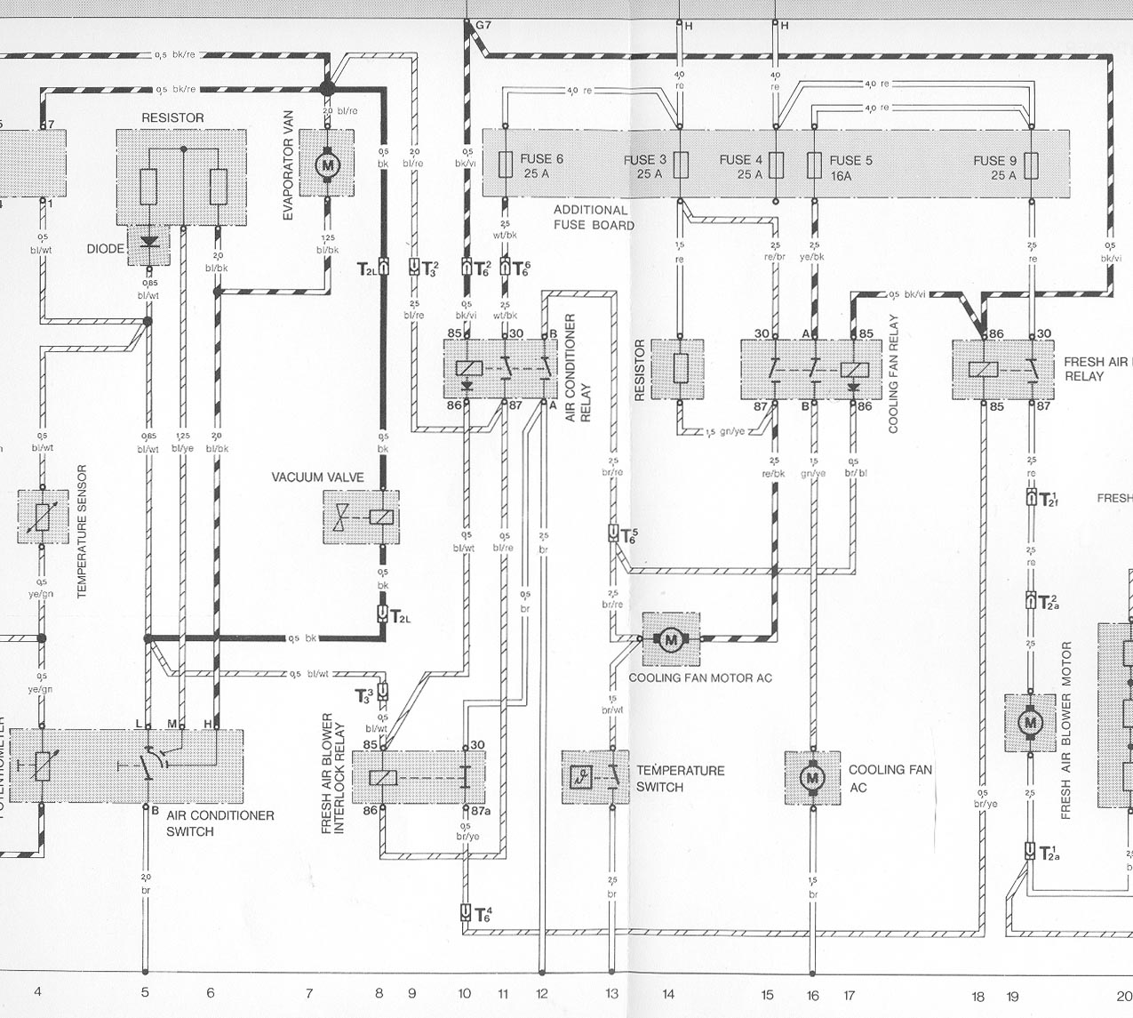 Cooling fan operation and troubleshooting for a diagram of the early cooling fan circuit with air conditioning click here sciox Images