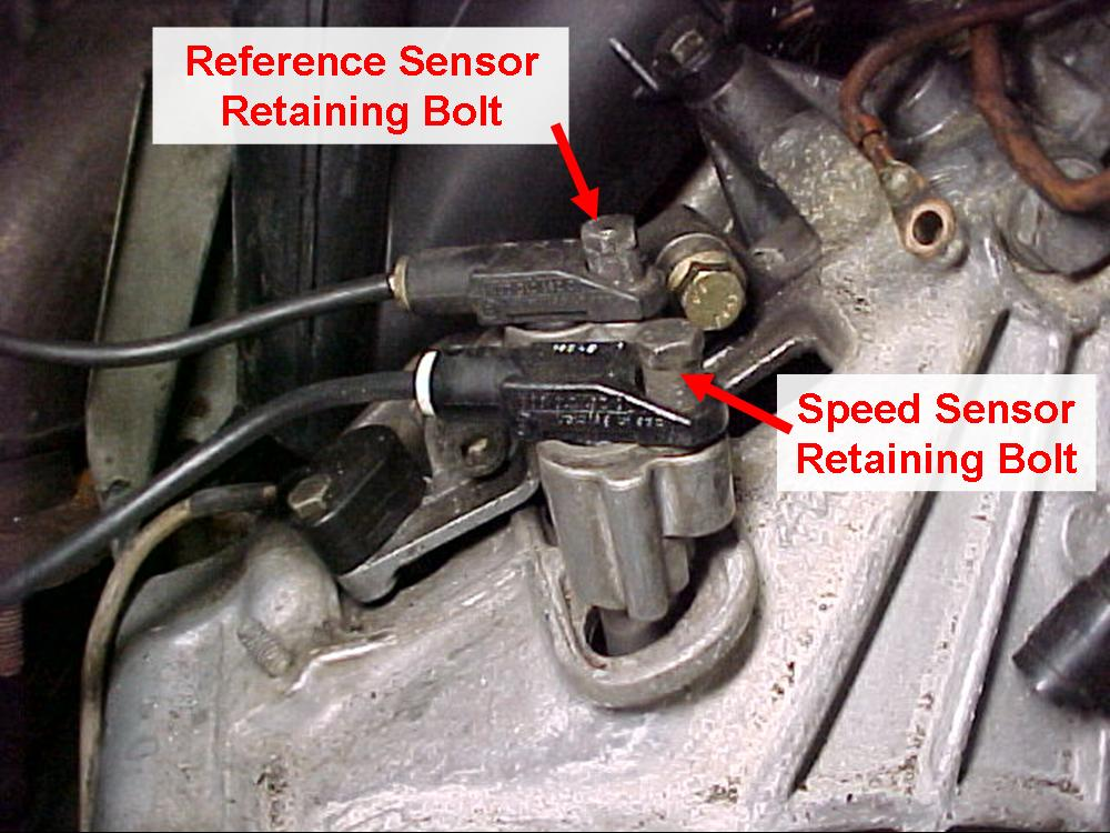 Speed And Reference Sensors Checking Replacement And